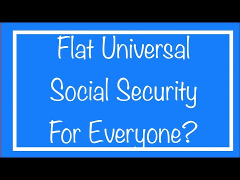 Flat Universal Social Security Benefit For Everyone
