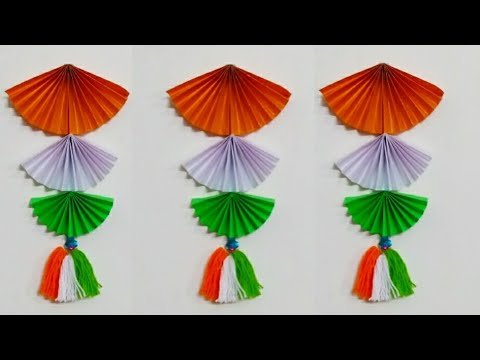 How to make Tri colour wall hanging/ Republic Day special craft Ideas