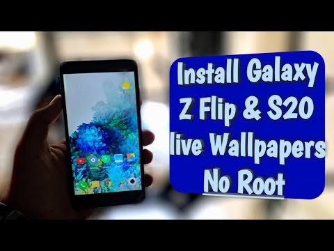 Install Samsung Galaxy Z Flip S20 Plus Live Wallpaper On Any Android Phone No Root Youtube