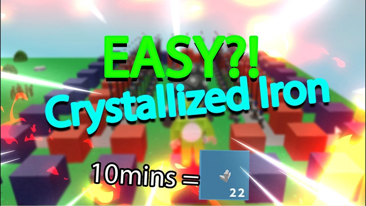 Easy Way To Get Crystallized Iron Roblox Skyblock Beta Youtube