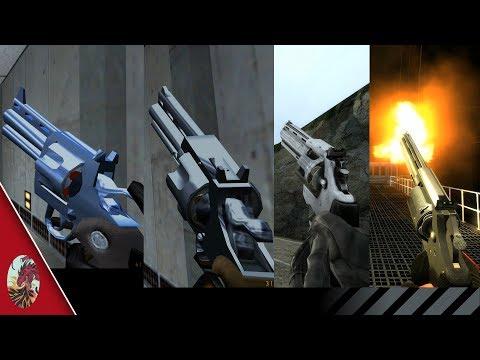 Half-Life Revolver Comparison