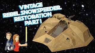 Star Wars Vintage Snowspeeder Restoration - Part 1/3 Kenner Toy