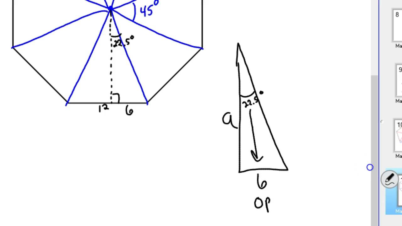 How To Find The Area Of An Octagon