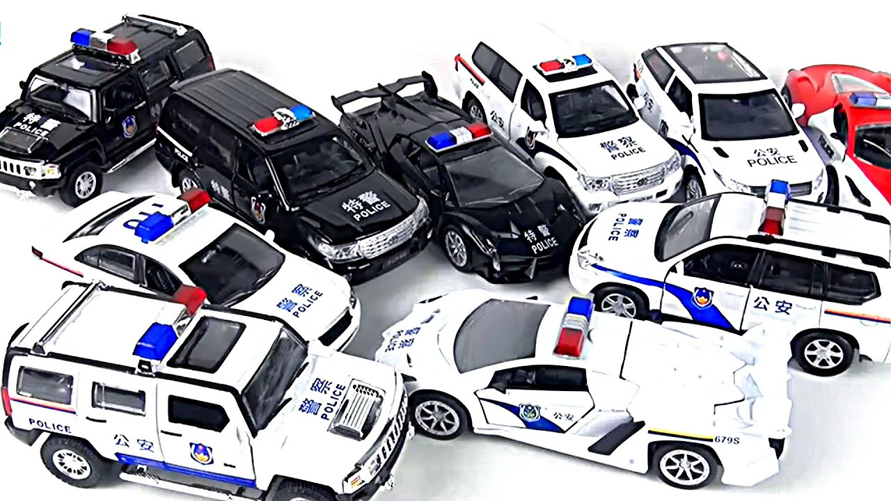 Police Toys For Boys : Police car toys for kids boys youtube
