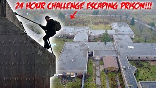 24 HOUR OVERNIGHT CHALLENGE HAUNTED ABANDONED PRISON ESCAPING FROM PRISON PART 2