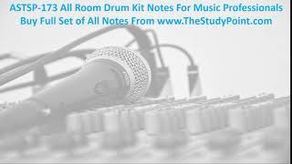 ASTSP 173 All Room Drum Kit Notes For Music Professionals