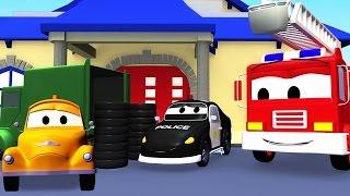 Авто Патруль: пожарная машина и полицейская машина, и вор в Автомобильный Город   Мультфильм о машин