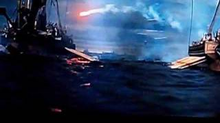 Ben Hur AMAZING SHIP BATTLE Romans vs Macedonians