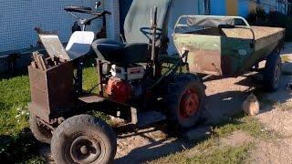 Простой самодельный минитрактор из мотоблока МТЗ: обзор конструкции трактора