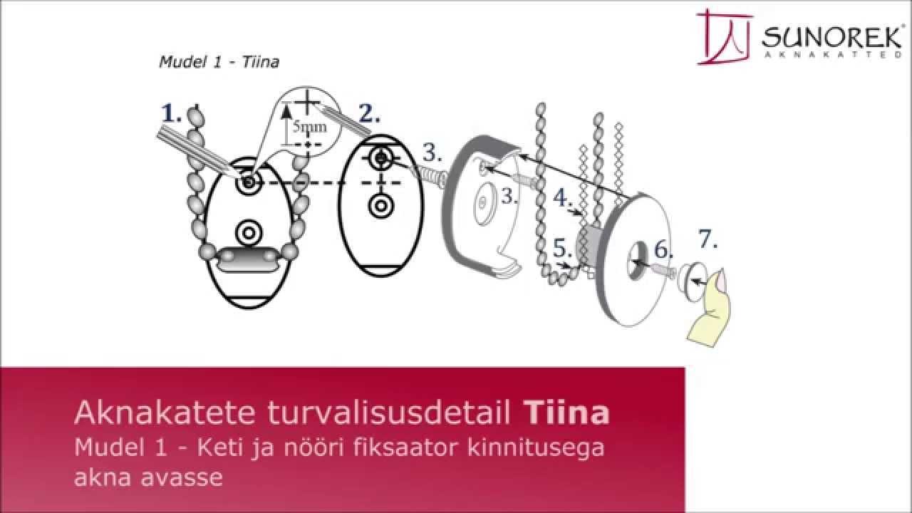 Sunoreki väikelaste turvalisusdetail 1 (Tiina) - kasutusjuhend