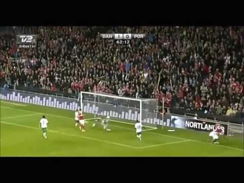 Nicklas Bendtner VS Portugal   Bonus Clips Included  