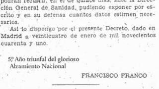 Planificación apertura de farmacias. Decreto de 1941