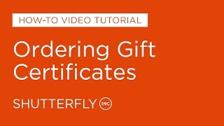 How to Order Gift Certificates on Shutterfly