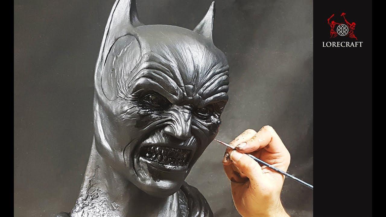 Batman Demon sculpture timelapse - Batman Begins