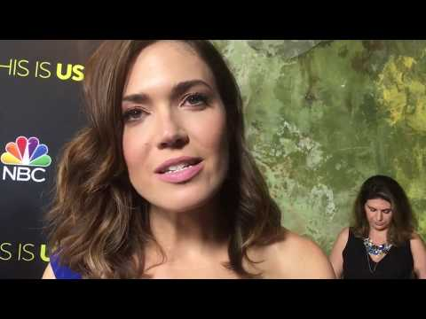 "Mandy Moore chats ""This Is Us"" on red carpet at Emmy FYC event"