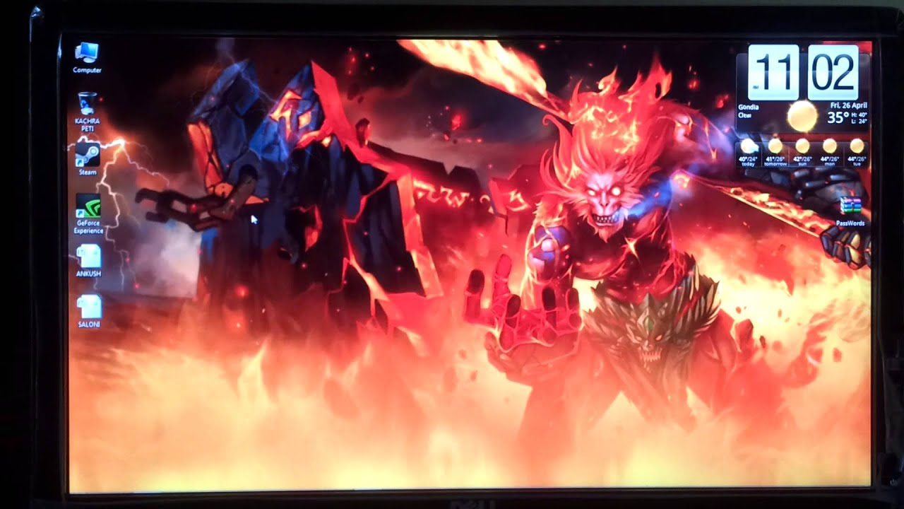 League Of Legends Desktop Live Wallpaper WUKONG - YouTube