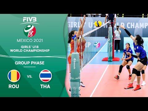 LIVE 🔴 ROU vs. THA - Group Phase   Girls U18 Volleyball World Champs 2021