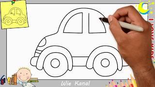 Auto zeichnen lernen einfach schritt für schritt für anfänger & kinder 10