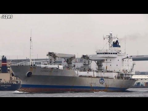 [船] CARIBBEAN STAR Refrigerated ship 冷凍貨物船 Osaka Port 大阪港 2013-JUL