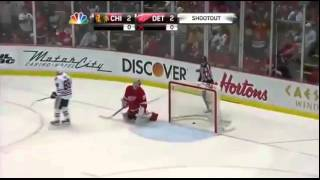 Amazing Shootout Goal By Patrick Kane Against Detroit Red Wings April 7, 2012 *must Watch!*