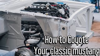 Building A Widebody Coyote Swap fastback Mustang- part 2