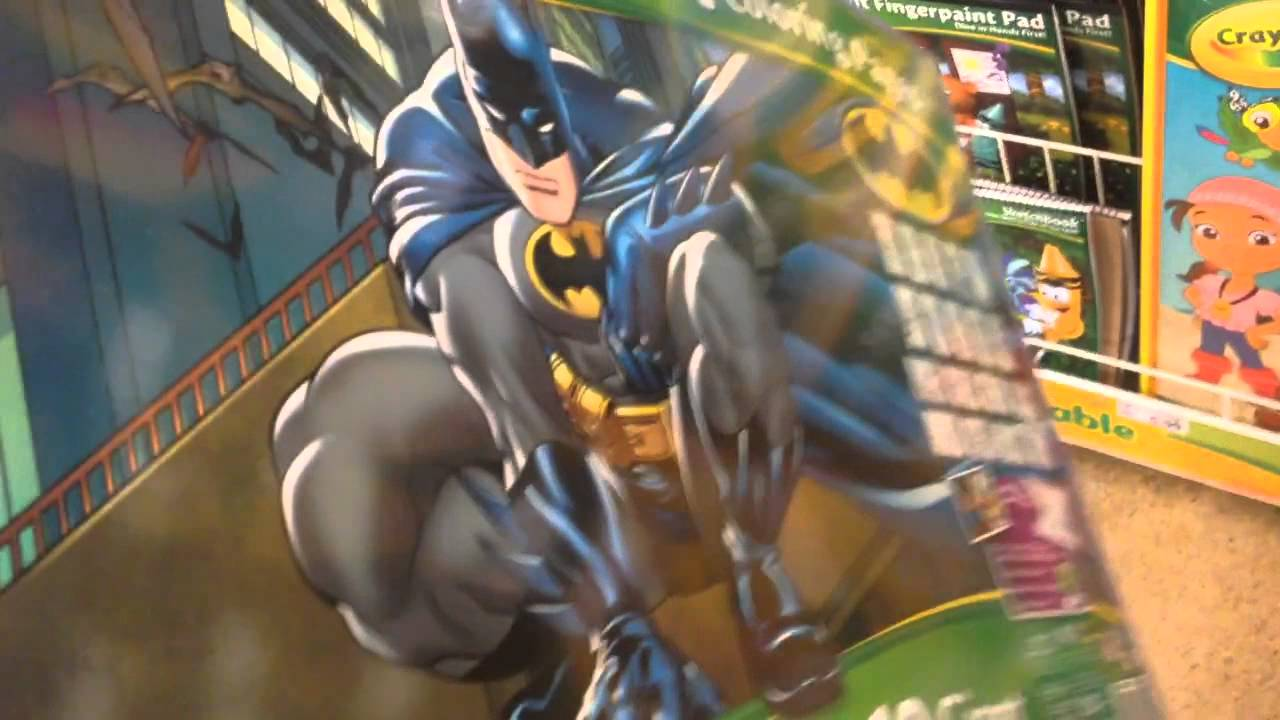 BATMAN Giant Coloring Pages by Crayola - YouTube