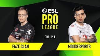 CS:GO - FaZe Clan vs. mousesports [Train] Map 1 - Group A - ESL EU Pro League Season 10