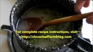 Making Lemon Balm Syrup