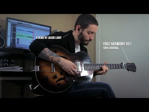 Vintage 1952 Harmony H51 Archtop Guitar | Demo By Jacob Light