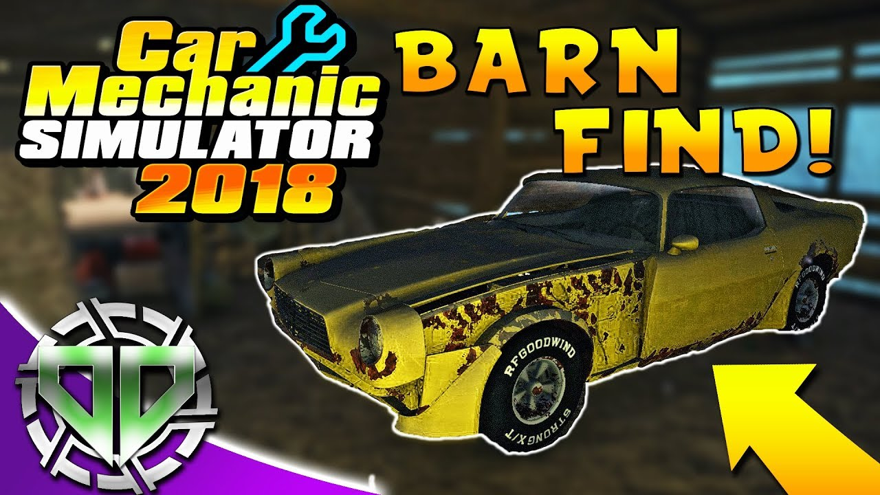 Car Mechanic Simulator 2018 Barn Find Test Track Dodge Challenger PC