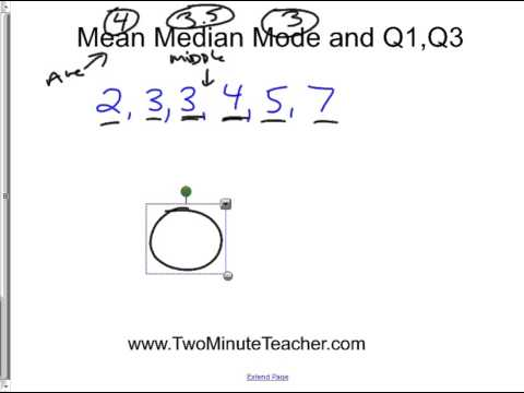 Basic stats mean median mode q1 and q3 and simple boxplot youtube basic stats mean median mode q1 and q3 and simple boxplot ccuart Images