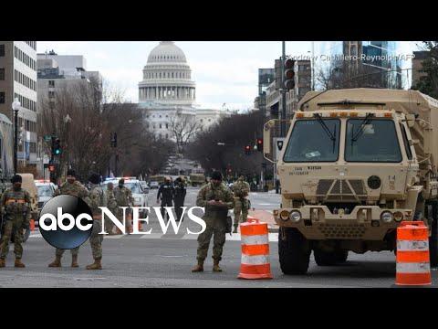 Green zone perimeter established in Washington, DC