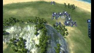 Supreme Commander 2 Gameplay 5 part 1 [MAXED OUT] HD 4850