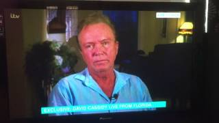 David Cassidy Live Interview - This Morning