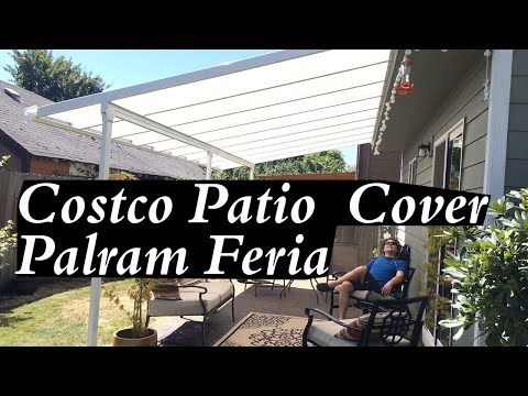 Costco Patio Cover Palram Feria White Best Easy Setup Great for Shade DIY Metal Aluminum Kits