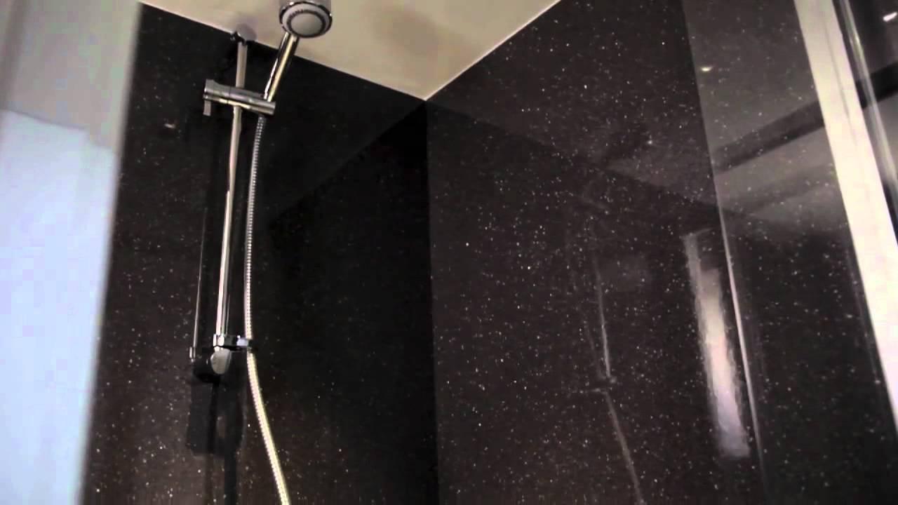 Bushoard Nuance Bathroom Worktops & Shower Panels - YouTube