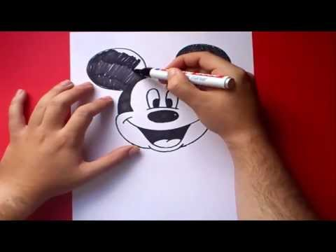 Como dibujar a Mickey Mouse paso a paso - Disney | How to draw Mickey Mouse - Disney Videos De Viajes