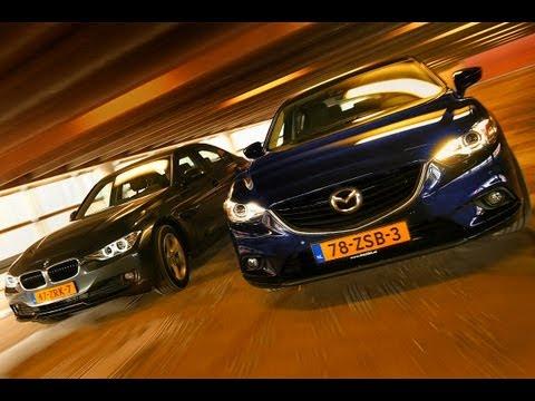 Dubbeltest BMW 3 serie vs Mazda 6 english subtitled