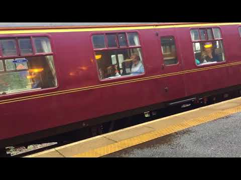 Steam train + Deltic 37516 on special railtours from Tweedbank to Linlithgow
