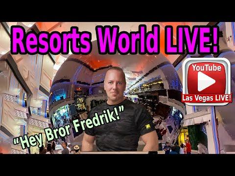 🚨 LAS VEGAS STRIP LIVE - WATCH NOW!! FRIDAY NIGHT AT RESORTS WORLD - WALK, TALK & EXPLORE!