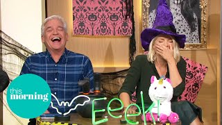 Phillip and Holly Get Giggly & Scared Of Some Very Spooktacular Halloween Decorations | This Morning