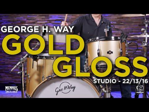 George H. Way Studio Drum Set 22/13/16 - Gold Gloss