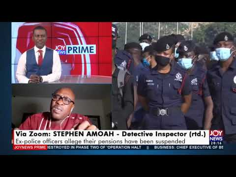 Ex-police officers allege their pensions have been suspended - Joy News Prime (11-5-21)