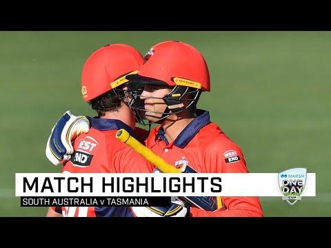 Highlights: Tasmania V South Australia, Marsh One-Day Cup 2019