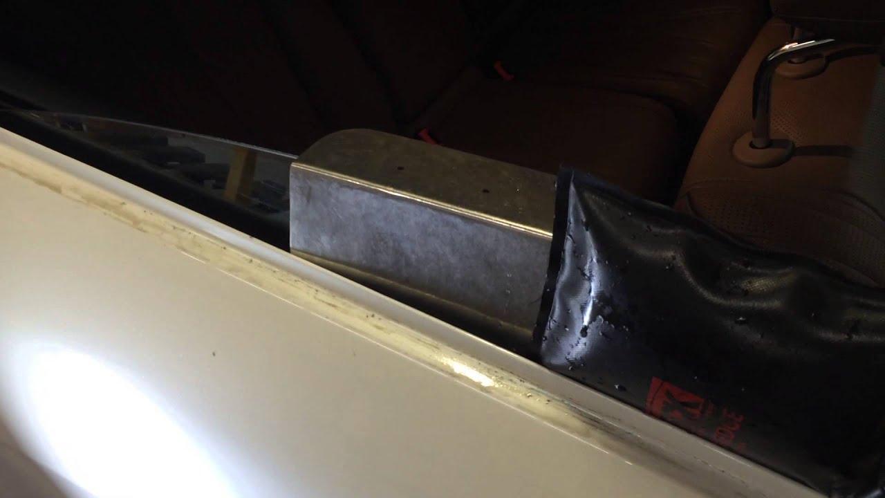 mercedes benz s63 laminated glass door ding repair