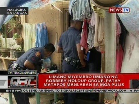 QRT: Limang miyembro umano ng robbery-holdup group, patay matapos manlaban sa mga pulis