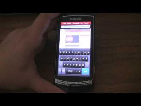Opera Mobile 10 Beta on Samsung i8910 Omnia HD
