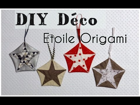 etoile origami en tissu tuto diy d co couture youtube. Black Bedroom Furniture Sets. Home Design Ideas