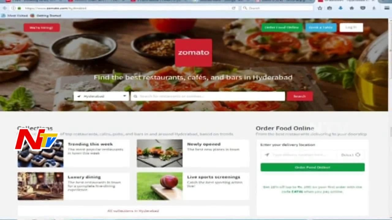 Online food delivery company zomato web site hacked ntv youtube online food delivery company zomato web site hacked ntv forumfinder Gallery
