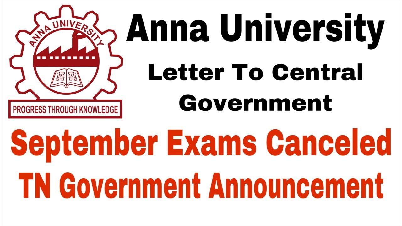 Anna University   September Exams Canceled   CM Announcement   Tamil